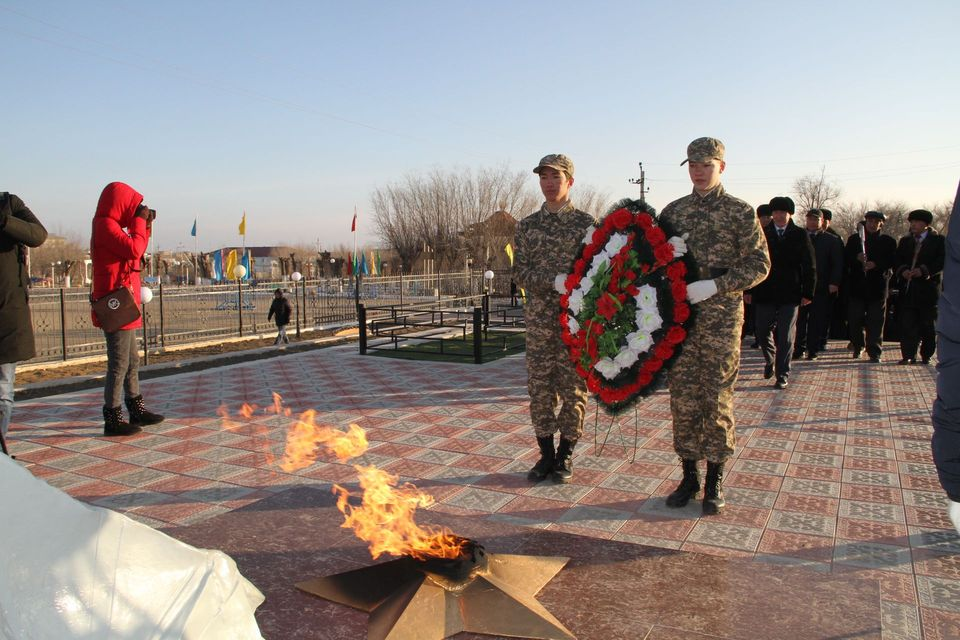 Opening ceremony of the recreation park and memorial to the heroes of the Great Patriotic War in Dossor